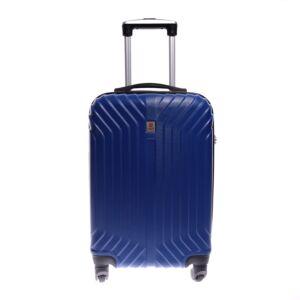 Leonardo Da Vinci Kék  Kemény kabinBőrönd  (4 Kerekű)