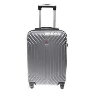 Leonardo Da Vinci Go!  Ezüst  Kemény Mini Bőrönd  (4 Kerekű)