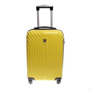 Leonardo Da Vinci Go!  Sárga  Kemény Közepes Bőrönd (4 Kerekű)