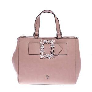 Gianmarco Venturi Világos Rózsaszín Női Rostbőr Kézitáska