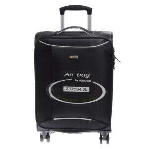 14N121 Fekete Touareg Közepes Méretű puha Bőrönd