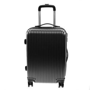 L888 Fekete Közepes  Méretű Bőrönd
