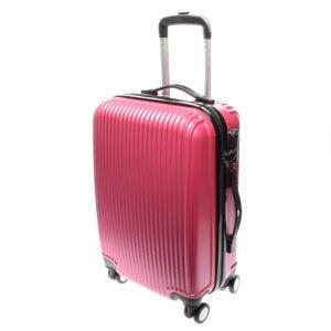 L888 Rózsaszín Kabin Méretű Bőrönd