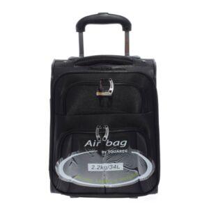 Touareg Fekete mini puha Kabinbőrönd