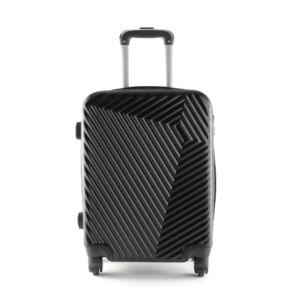 LC-020 Fekete színű kabin méretű PVC bőrönd (55*40*20 cm)