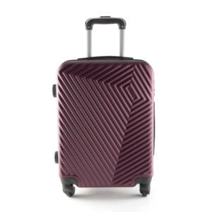 LC-020 bordó kabin méretű PVC bőrönd (55*40*20 cm)
