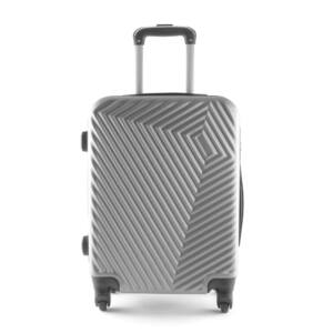 LC-020 Ezüst kabin méretű PVC bőrönd (55*40*20 cm)