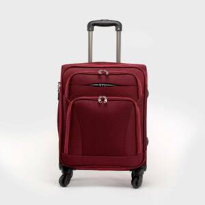Besty bordó puha közepes bőrönd