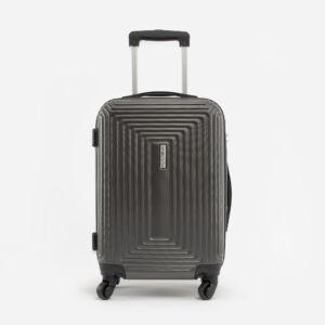 Leonardo Da VInci Közepes Méretű Sötétszürke Műanyag Kemény Bőrönd