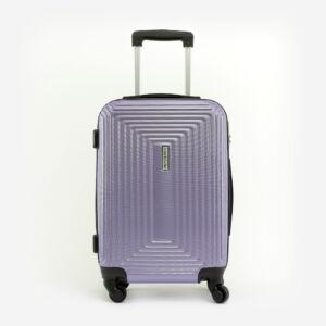 Leonardo Da VInci Közepes Méretű Lila Műanyag Kemény Bőrönd