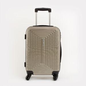 Leonardo Da VInci Közepes Méretű Pezsgőszínű Műanyag Kemény Bőrönd