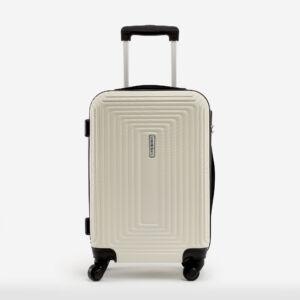 Leonardo Da VInci Közepes Méretű Drapp Műanyag Kemény Bőrönd
