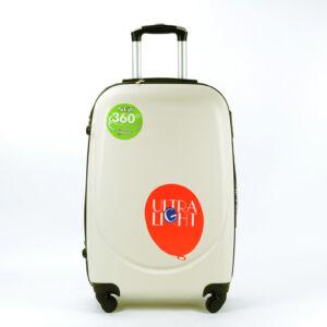 Besty Bézs Extra Könnyű Kemény kabinbőrönd (4 Kerekű)