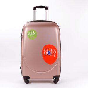 Besty Rózsaarany Extra Könnyű Kemény Nagy Bőrönd (4 Kerekű)