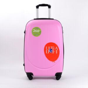 Besty Rózsaszín Extra Könnyű Kemény kabinbőrönd (4 Kerekű)