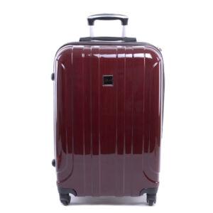 Ormi Kemény Fényes Bőrönd Bordó Kicsi