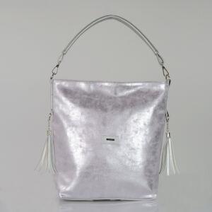 VIA*55 elegáns alkalmi ezüst/halvány rózsaszín fénnyel válltáska