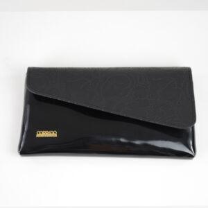 Corrado Martino divatos alkalmi fekete kis kézitáska