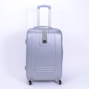 Kemény Mini Bőrőnd Ezüst (4 Kerekű)