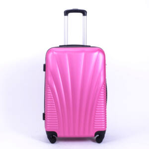 Besty Kemény Kabin Bőrőnd Pink (4 Kerekű)