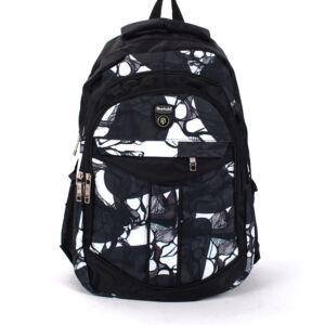 Fekete-fehér mintás hátizsák hátizsák