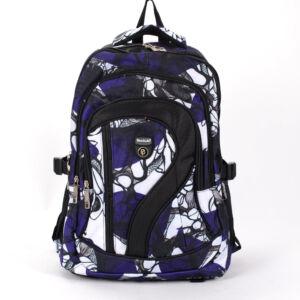 Lila-fehér mintás hátizsák hátizsák