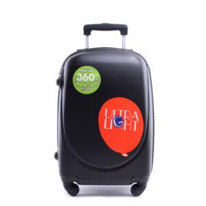 Besty Fekete Extra Könnyű Kemény kabinbőrönd (4 Kerekű)
