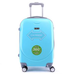 Világoskék Kemény Nagy Bőrönd (4 Kerekű)