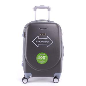 Szürke Kemény Közepes Bőrönd (4 Kerekű)