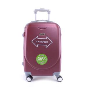 Bordó Kemény Nagy Bőrönd (4 Kerekű)