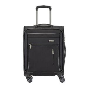 Travelite Capri Fekete Gurulós Közepes Méretű Bőrönd