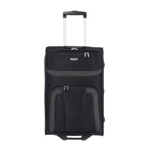 Travelite Orlando Fekete Gurulós Kis Méretű Két Kerekű Bőrönd