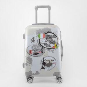 Ormi Szürke Térkép mintás Kemény Kabin Bőrönd