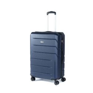 Bontour Spinner Kék  Négy kerekű Kemény falú Kabin bőrönd - 2 Év Garancia
