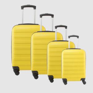 Sárga Kemény falú Négy kerekű Könnyű Négy részes szett