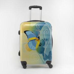 Ormi Kék Pillangós Kemény Nagy Bőrönd
