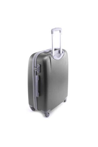 Kemény Nagy Bőrönd Szürke (4 Kerekű)