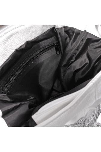Prestige sötétkék szín Női Rostbőr Válltáska