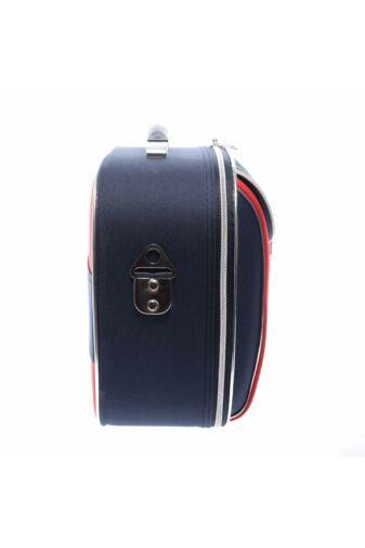 Piros-Kék Bőröndre Akasztható Táska 34X28X16Cm