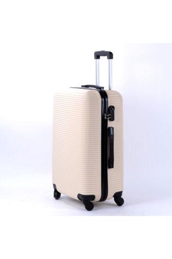 Besty Bézs Kemény Közepes Bőrönd  (4 Kerekű)