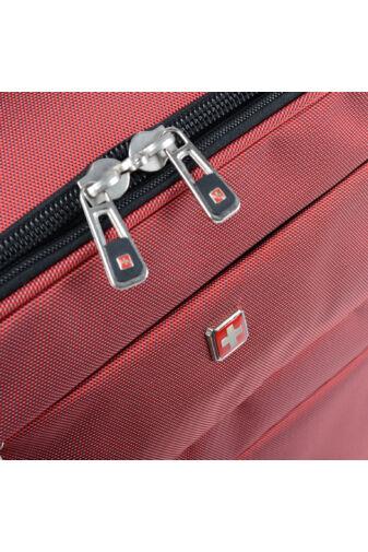 Prémium Swisswin Bordó Wizzair Méretű Gurulós Bőrönd(53*37*23cm)