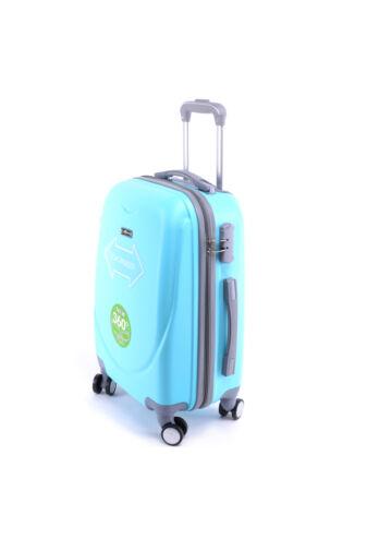 LIGHT Világoskék Nagy Kemény Bőrönd