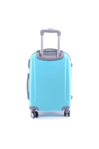 LIGHT Világoskék Közepes Kemény Bőrönd