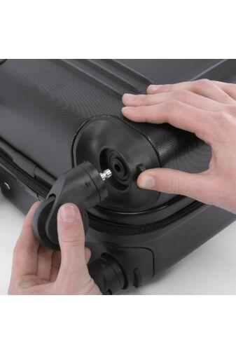 Fekete Extra Könnyű Kemény Mini Kabinbőrönd (4 Kerekű)