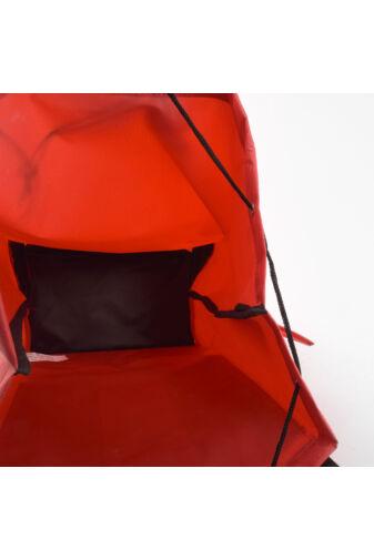 Fekete-Piros Háromkerekű Lépcsőjáró Bevásárlókocsi