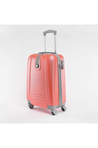 Kemény Nagy Bőrönd Neon Narancssárga Színű (4 Kerekű)