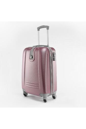 Kemény Nagy Bőrönd Ezüstös Rószaszín (4 Kerekű)