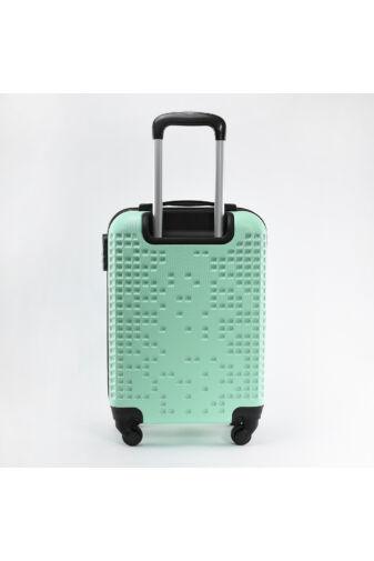 LDV Babazöld 4 kerekű Műanyag Kemény Kabin Bőrönd Szett