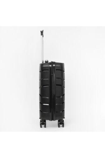 Besty Fekete Polipropilén Wizz Air és Ryanair Méretű Kabinbőrönd (54x33x20cm)