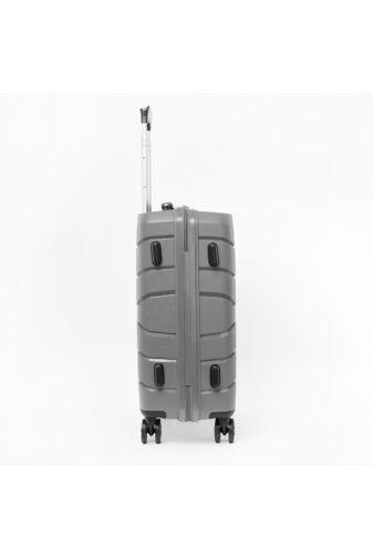 Besty Nagy Méretű Szürke Polipropilén Bőrönd (77x48x32 cm)
